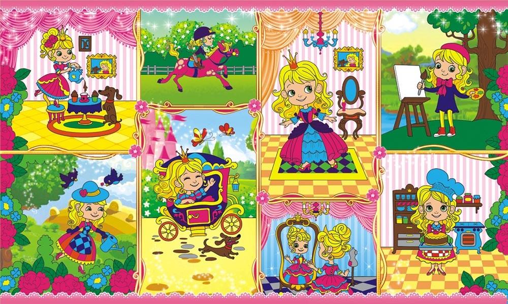 Яркие, красочные наклейки для детей. Формат листа: 160 х 97 смОтделка: глиттер, с квадратной вырубкой.