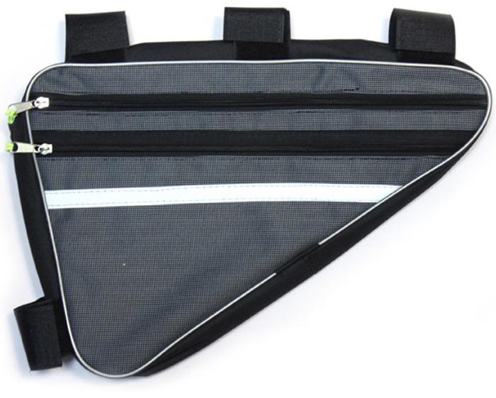 Велосумка подрамная Alpine, большая, цвет: черный