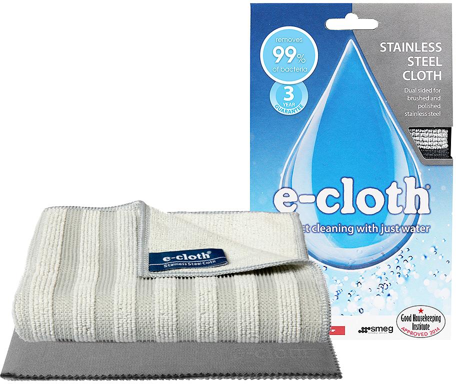 Набор салфеток  E-cloth  для нержавеющей стали, цвет: серый, светло-серый, 2 шт. 20450 -  Инвентарь для уборки