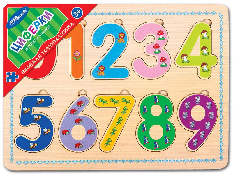 Step Puzzle Обучающая игра Веселая математика Циферки danik tm обучающая игра виртуальный учитель африка english