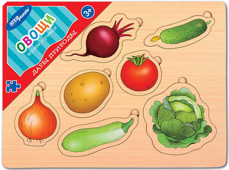 Step Puzzle Обучающая игра Дары природы Овощи планшет развивающий музыкальная наука обучающие игры