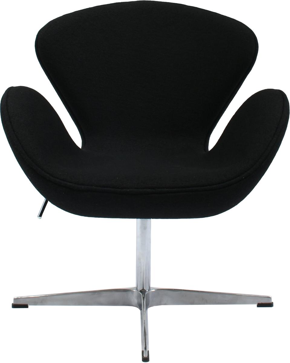 Кресло Bradex Swan Chair, цвет: черный, FR 0009 outdoor traveling camping tripod folding stool chair foldable fishing chairs portable fishing mate fold metal chair