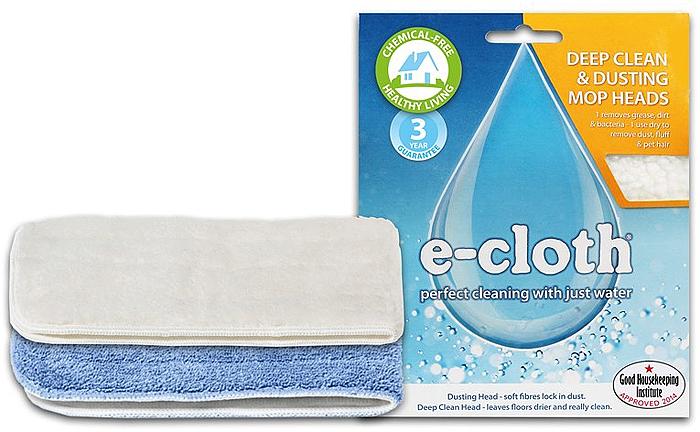 """Набор сменных насадок подходит для двух моделей швабр """"E-cloth"""" - 20240 и 20267.Набор включает в себя:    - сменную насадку для швабры для влажной уборки. Насадка изготовлена из e-cloth волокон, которые эффективно удаляют загрязнения с любых твердых поверхностей без использования химических средств. Благодаря свойствам  e-cloth волокон на поверхности не остается разводов и собранная грязь удерживается тканью до следующей стирки. Насадка закрепляется с помощью липучки, что позволяет легко снимать ее со швабры для полоскания и затем легко закреплять на швабре.      Применяется для влажной уборки любых твердых поверхностей - паркет, ламинат, кафель, натуральный и искусственный камень. Размер съемной насадки: 45 см х 15 см. Состав: 80% полиэстер, 20% полиамид. Выдерживает до 300 циклов стирки без потери эффективности.     - сменную насадку для швабры для сухой уборки. Благодаря свойствам e-cloth волокон, позволяет собрать и удержать сухую пыль и грязь с поверхностей перед влажной уборкой. Насадка закрепляется с помощью липучки, что позволяет легко снимать ее со швабры для полоскания и затем легко закреплять на швабре.Применяется на любых твердых поверхностях - паркет, ламинат, кафель, натуральный и искусственный камень. Размер съемной насадки: 45 см х 15 см. Состав: 100% полиэстер. Выдерживает до 300 циклов стирки без потери эффективности."""