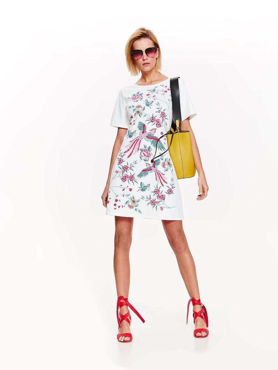 Платье Top Secret, цвет: белый. SSU2110BI. Размер 42 (50) платье top secret цвет красный ssu2079ce размер 46 54
