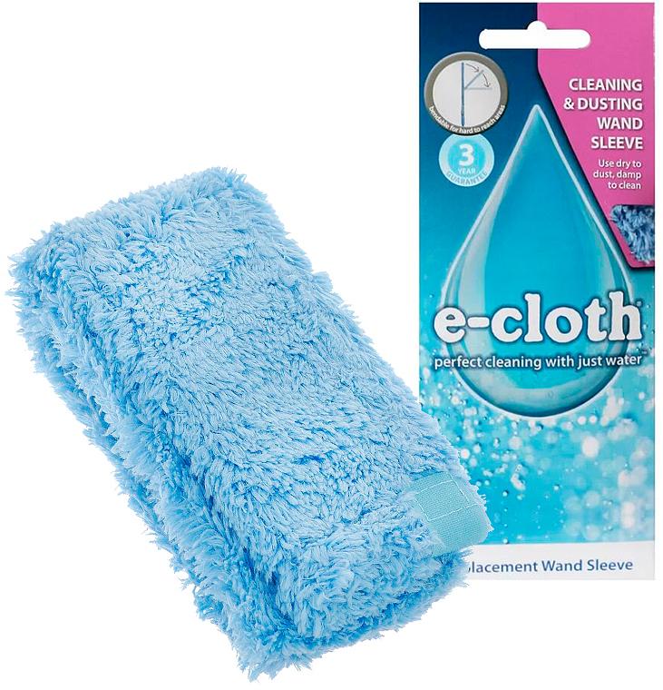 Насадка сменная для гибкой щетки E-cloth, цвет: голубой20603Сменная насадка E-cloth подходит для гибкой щетки. Гибкая щетка идеально подходит для удаления пыли, пуха, паутины в труднодоступных местах - на шкафах, за батареями, под мебелью и т.п. Размер: 60 см х 8 см. Состав: 80% полиэстер, 20% полиамид.Можно стирать в стиральной машине.Выдерживает до 300 циклов стирки без потери эффективности.