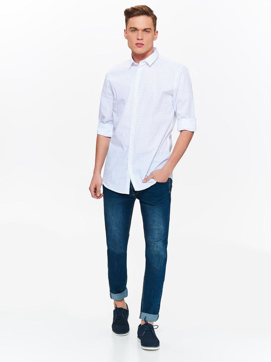 Рубашка мужская Top Secret, цвет: белый. SKL2567BI. Размер 38/39 (46)SKL2567BIСтильная мужская рубашка Top Secret, выполненная из натурального хлопка, позволяет коже дышать, тем самым обеспечивая наибольший комфорт при носке. Модель классического кроя с отложным воротником и длинными рукавами застегивается на пуговицы по всей длине. Манжеты рукавов также оснащены пуговицами. Изделие оформлено оригинальным принтом.