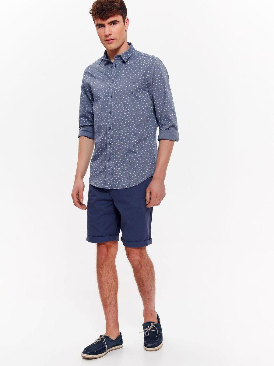 Рубашка мужская Top Secret, цвет: темно-синий. SKL2534GR. Размер 46 (54) рубашка мужская top secret цвет темно синий skl2533gr размер 44 45 52