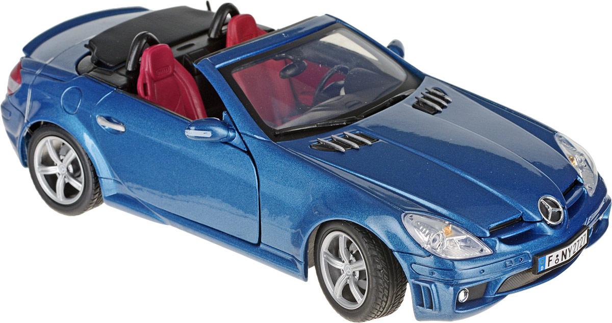 Autotime Коллекционная модель автомобиля Mercedes Benz SLK55 АMG цвет голубой autotime модель автомобиля bentley continental gt v8 цвет черный