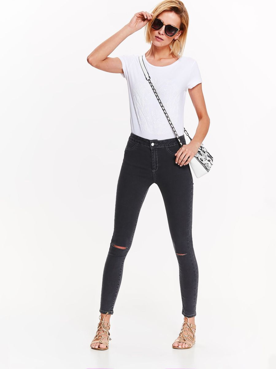 Футболка женская Top Secret, цвет: белый. SPO3453BI. Размер 42 (50) футболка женская nike pro top цвет белый 889540 100 размер s 42 44