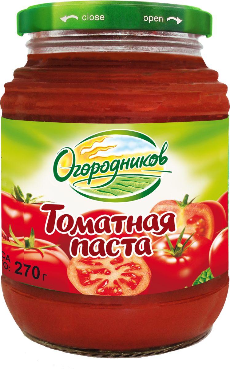 Огородников Паста томатная оригинальная, 270 г томатная паста помидорка 250мл