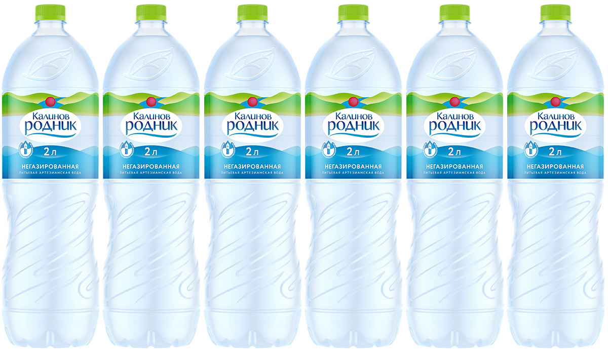 Калинов Родник Вода питьевая артезианская негазированная, 2 л, 6 шт