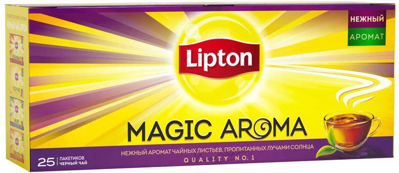 Lipton Черный чай Magic Aroma 25 шт lipton 0 5