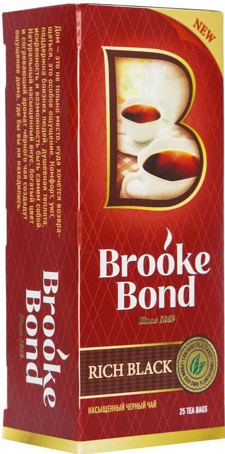 Brooke Bond Насыщенный черный чай в пакетиках, 25 шт болеро quelle ashley brooke by heine 123582
