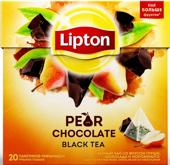Lipton Черный чай Pear Chocolate 20 шт майский корона российской империи черный чай в пирамидках 20 шт
