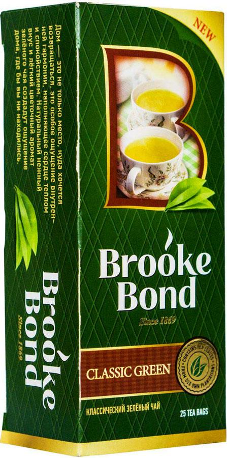 Brooke Bond зеленый чай классический в пакетиках, 25 шт