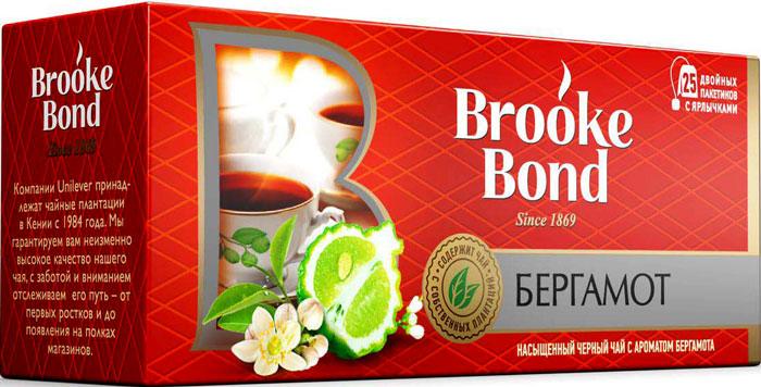 Brooke Bond черный чай с ароматом бергамота в пакетиках, 25 шт