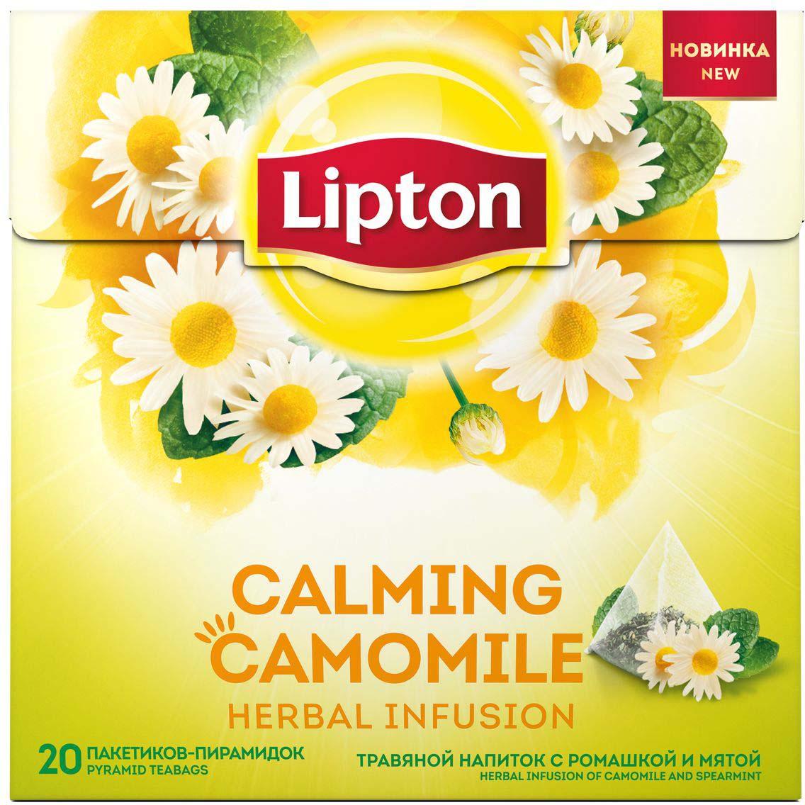 Lipton напиток травяной с ромашкой и мятой в пирамидках, 20 шт newby peppermint травяной чай в пирамидках 15 шт