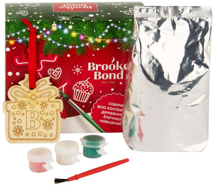 Brooke Bond чай елочное украшение с красками, 90 г