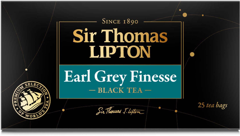 Sir Thomas Lipton Earl Grey Finesse чай черный ароматизированный в пакетиках, 25 шт чай черный ароматизированный майский лесные ягоды 25 пакетиков