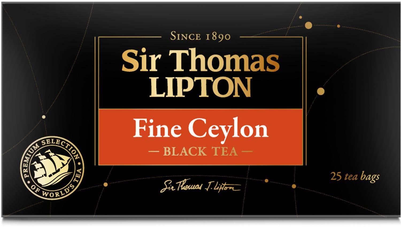 Sir Thomas Lipton Fine Ceylon чай черный листовой в пакетиках, 25 шт sir gawain