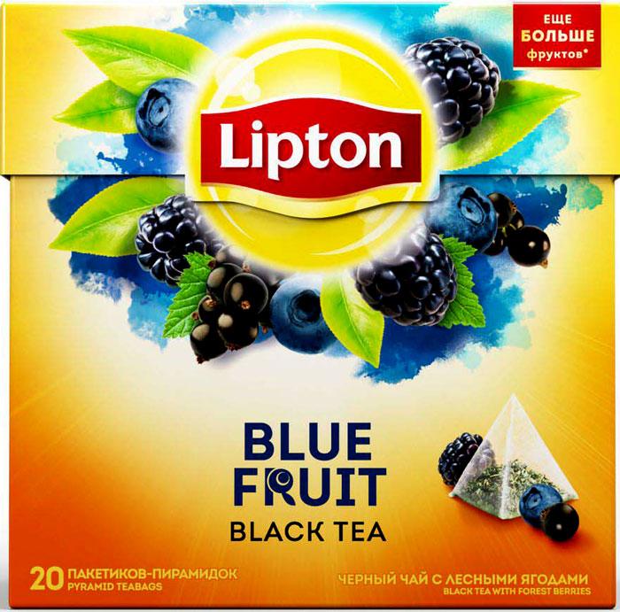 Lipton Blue Fruit Tea черный чай в пирамидках, 20 шт lipton lemon melissa green tea зеленый чай в пирамидках с листочками лимонной мяты 20 шт