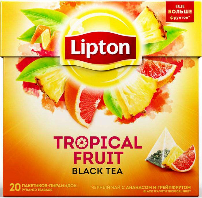 Lipton Tropical Fruit Tea фруктовый чай в пирамидках, 20 шт кабель 3 5 мм jack 2xrca audioquest everg01 5mr