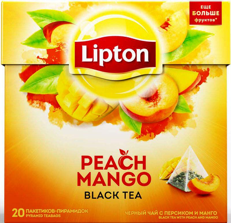 Lipton Черный чай Peach Mango 20 шт чай черный lipton grape raspberry пирамидки