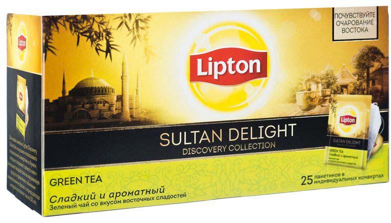 Lipton Зеленый чай Sultan Delight 25 шт lipton липтон чай зеленый чай зеленый чай в пакетиках 50 мешков 100г