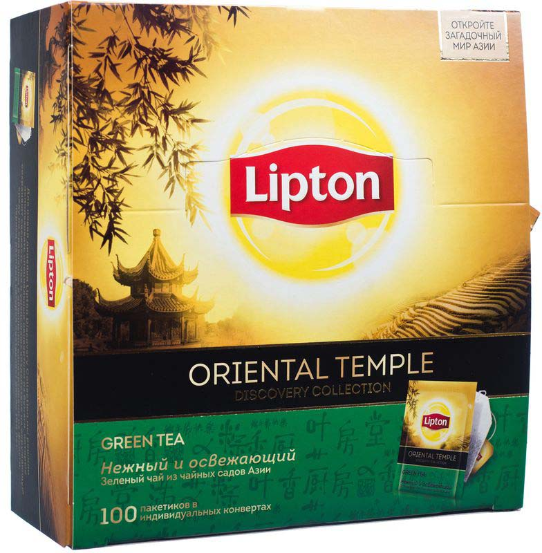 Lipton Зеленый чай Oriental Temple 100 шт lipton липтон чай зеленый чай зеленый чай в пакетиках 50 мешков 100г