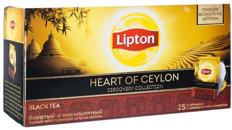 Lipton Черный чай Heart of ceylon 25 шт картридж canon cli 521 c m y 2934b010