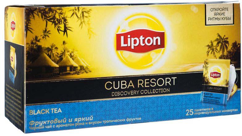Lipton Черный чай Cuba Resort 25 шт скейт круизер pumpkin wing d t 84 diamond complete totem multicolor 8 25 x 33 25 84 см