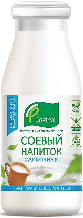 СояРус Напиток соевый сливочный 0,93%, без сахара, 0,5 л соярус кетчуп соевый острый 275 г