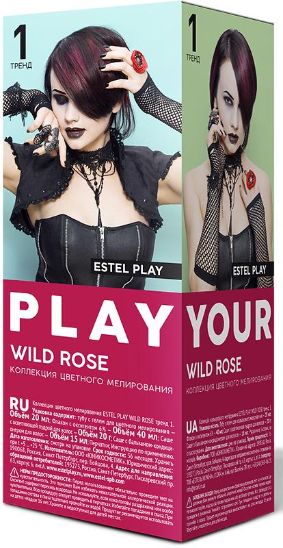 Коллекция цветного мелирования Estel Play Wild Rose Тренд 1 EP/WR estel mohito набор клубника