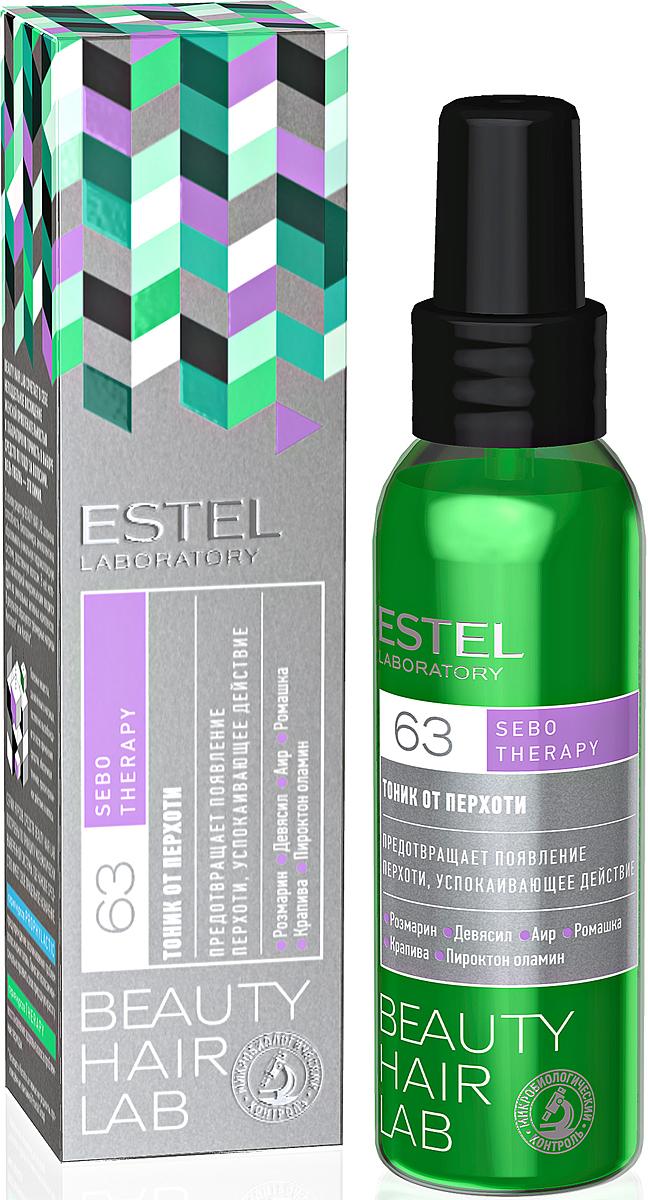 Тоник от перхоти для волос Estel Beauty Hair Lab 100 млBHL-17Микс из экстрактов девясила, аира, ромашки и крапивы с эфирным маслом розмарина нормализует функцию сальных желез, предотвращает появление перхоти. Обладает успокаивающим действием, снимает зуд и раздражение.