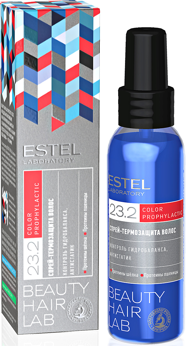 Спрей-термозащита волос Estel Beauty Hair Lab 100 млBHL-8Защищает волосы от повреждений при горячей укладке и придает им блеск. Благодаря глубокому проникновению протеинов шелка и пшеницы, уплотняет волос изнутри , не перегружая их. Контролирует потерю влаги. Облегчает расчесывание, снимает статику.