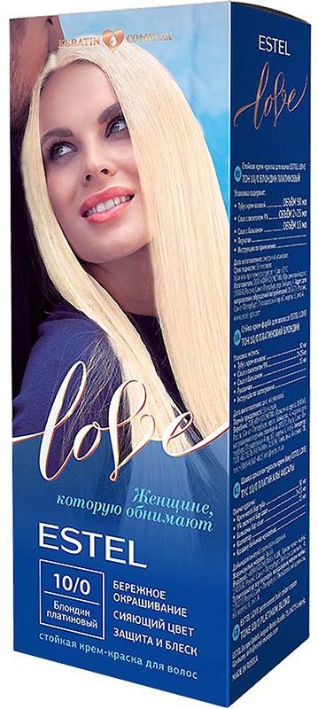 Стойкая крем-краска для волос Estel Love тон 10/0 Блондин платиновый EL10/0EL10-0Мягкое воздействие на структуру волос. Масло иланг-иланга и пчелиный воск гарантируют качественный уход, равномерное нанесение и 100% закрашивание седины. В результате волосы приобретают жизненную силу и глубокий цвет.