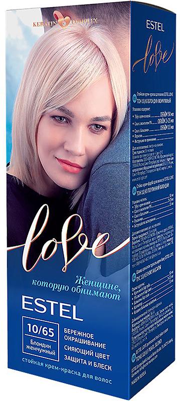 Стойкая крем-краска для волос Estel Love тон 10/65 Блондин жемчужный EL10/65EL10-65Мягкое воздействие на структуру волос. Масло иланг-иланга и пчелиный воск гарантируют качественный уход, равномерное нанесение и 100% закрашивание седины. В результате волосы приобретают жизненную силу и глубокий цвет.
