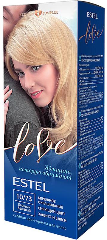 Стойкая крем-краска для волос Estel Love тон 10/73 Блондин бежевый EL10/73EL10-73Мягкое воздействие на структуру волос. Масло иланг-иланга и пчелиный воск гарантируют качественный уход, равномерное нанесение и 100% закрашивание седины. В результате волосы приобретают жизненную силу и глубокий цвет.