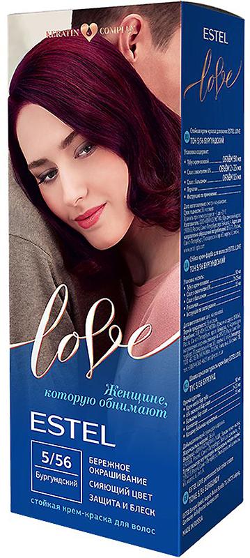 Стойкая крем-краска для волос Estel Love тон 5/56 Бургундский EL5/56EL5-56Мягкое воздействие на структуру волос. Масло иланг-иланга и пчелиный воск гарантируют качественный уход, равномерное нанесение и 100% закрашивание седины. В результате волосы приобретают жизненную силу и глубокий цвет.