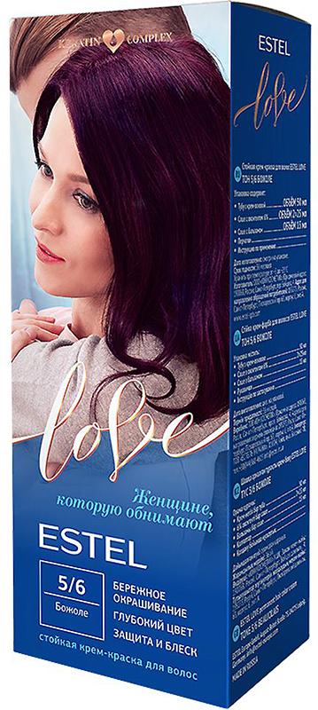 Стойкая крем-краска для волос Estel Love тон 5/6 Божоле EL5/6EL5-6Мягкое воздействие на структуру волос. Масло иланг-иланга и пчелиный воск гарантируют качественный уход, равномерное нанесение и 100% закрашивание седины. В результате волосы приобретают жизненную силу и глубокий цвет.