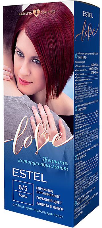 Стойкая крем-краска для волос Estel Love тон 6/5 Бордо EL6/5