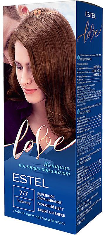 Стойкая крем-краска для волос Estel Love тон 7/7 Тирамису EL7/7EL7-7Мягкое воздействие на структуру волос. Масло иланг-иланга и пчелиный воск гарантируют качественный уход, равномерное нанесение и 100% закрашивание седины. В результате волосы приобретают жизненную силу и глубокий цвет.