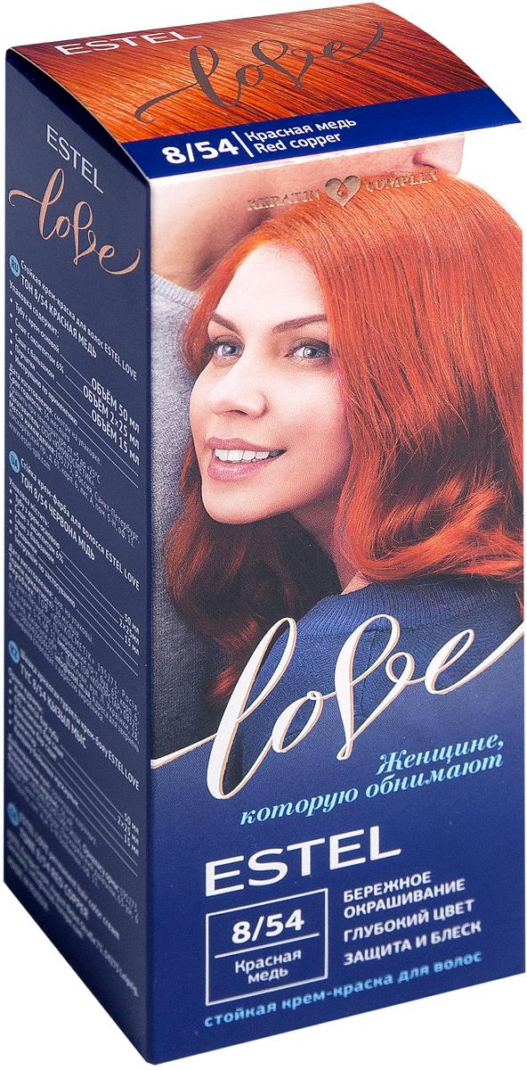 Стойкая крем-краска для волос Estel Love тон 8/54 Красная медь EL8/54