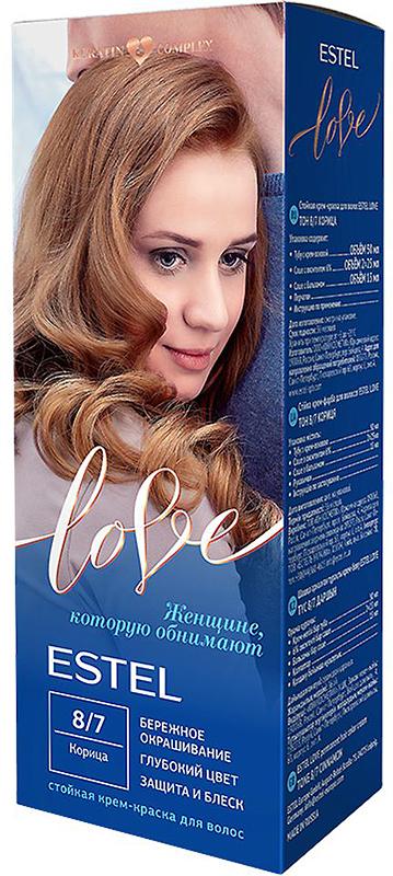 Стойкая крем-краска для волос Estel Love тон 8/7 Корица EL8/7