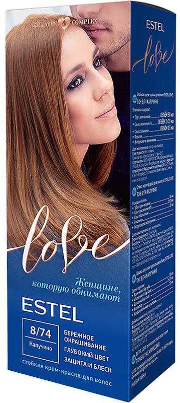 Стойкая крем-краска для волос Estel Love тон 8/74 Капучино EL8/74