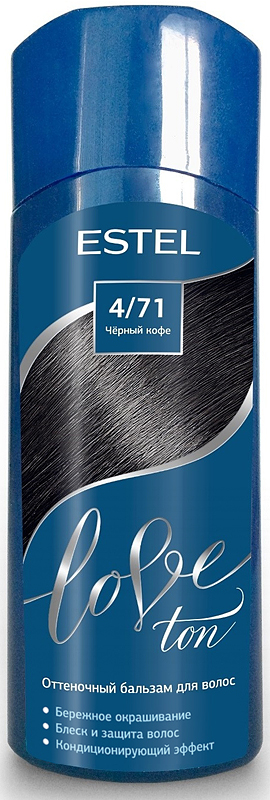 Оттеночный бальзам для волос Estel Love Ton 4/71 Черный кофе LT4/71LT4-71Бережное окрашивание без аммиака и перекиси водорода. Кондиционирующий эффект. Блеск и защита волос.