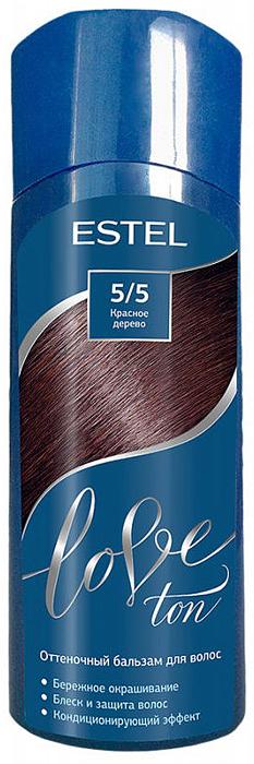 Оттеночный бальзам для волос Estel Love Ton 5/5 Красное дерево LT5/5LT5-5Бережное окрашивание без аммиака и перекиси водорода. Кондиционирующий эффект. Блеск и защита волос.