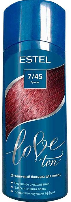 Оттеночный бальзам для волос Estel Love Ton 7/45 Гранат LT7/45LT7-45Бережное окрашивание без аммиака и перекиси водорода. Кондиционирующий эффект. Блеск и защита волос.