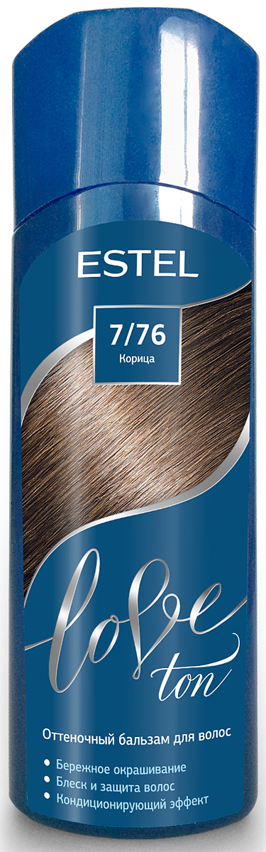 Оттеночный бальзам для волос Estel Love Ton 7/76 Корица LT7/76LT7-76Бережное окрашивание без аммиака и перекиси водорода. Кондиционирующий эффект. Блеск и защита волос.