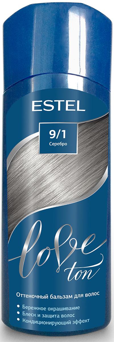 Оттеночный бальзам для волос Estel Love Ton 9/1 Серебро LT9/1LT9-1Бережное окрашивание без аммиака и перекиси водорода. Кондиционирующий эффект. Блеск и защита волос.
